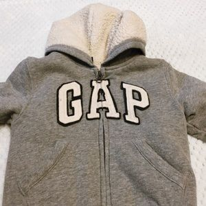 fuzzy baby gap jacket